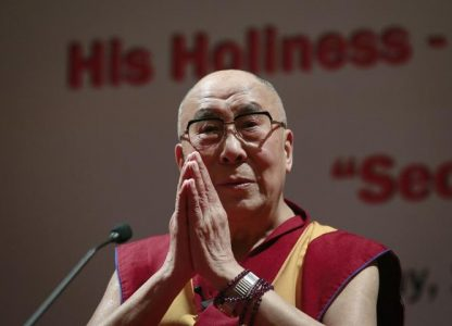 """The 81-year-old monk said he has always regarded the U.S. as the leader of the """"free world"""" and wasn't concerned about remarks made by Trump during the election campaign"""