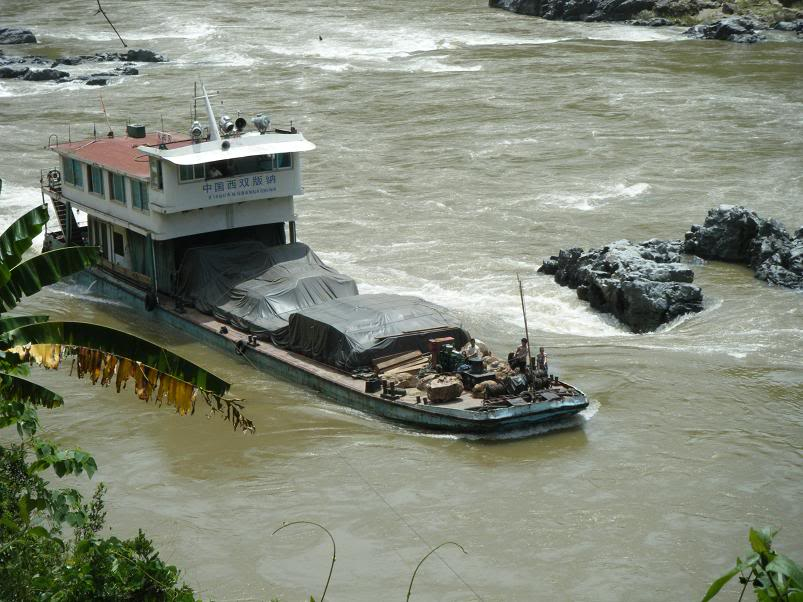 Mekong River rocky outcrops off Chiang Saen District, Chiang Rai to be blasted to clear the passage for large cargo boats has set off alarm bells for environmental activists and locals.