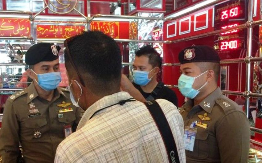 gold shop heist in southern Thailand