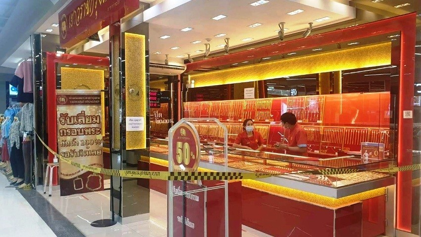 Robbery, gold shop, thailand